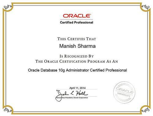 Buy Oracle Certificate