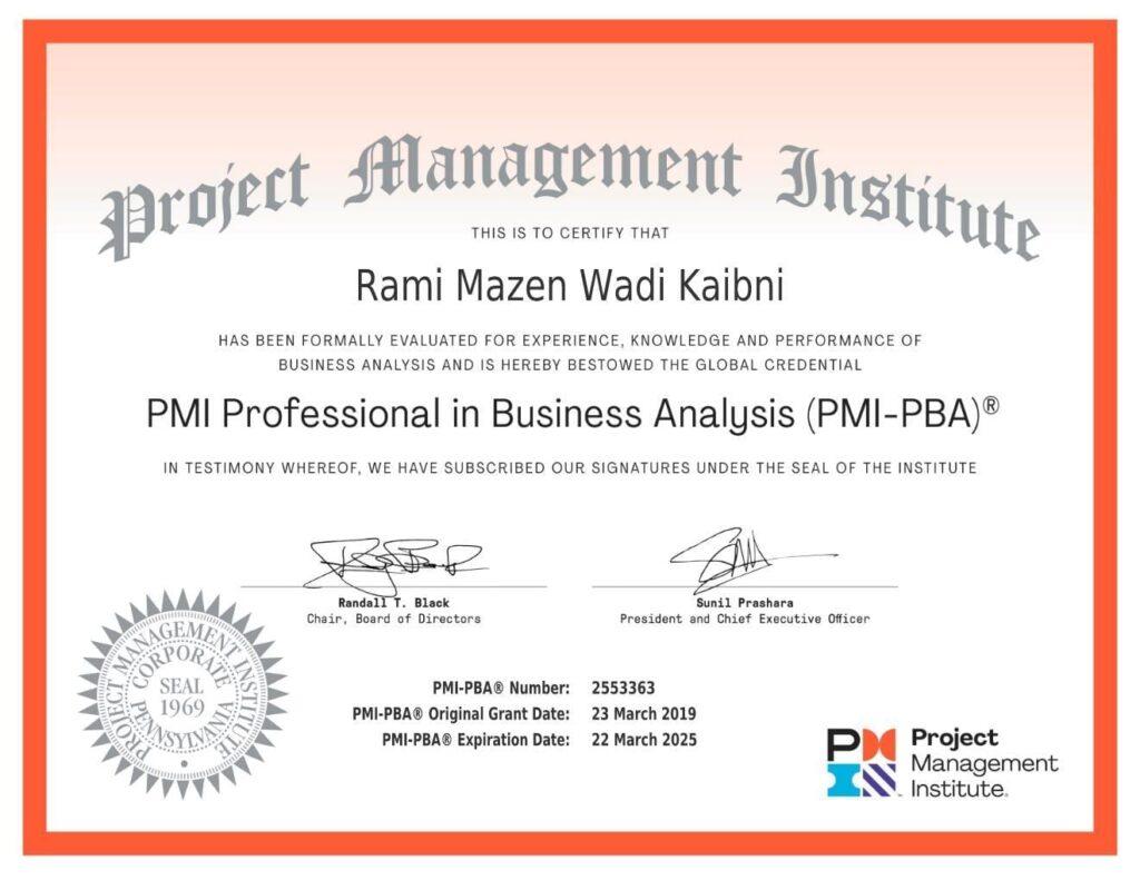 PMI-PBA Exam Proxy