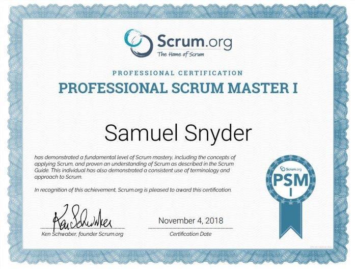 Buy PSM Certificate